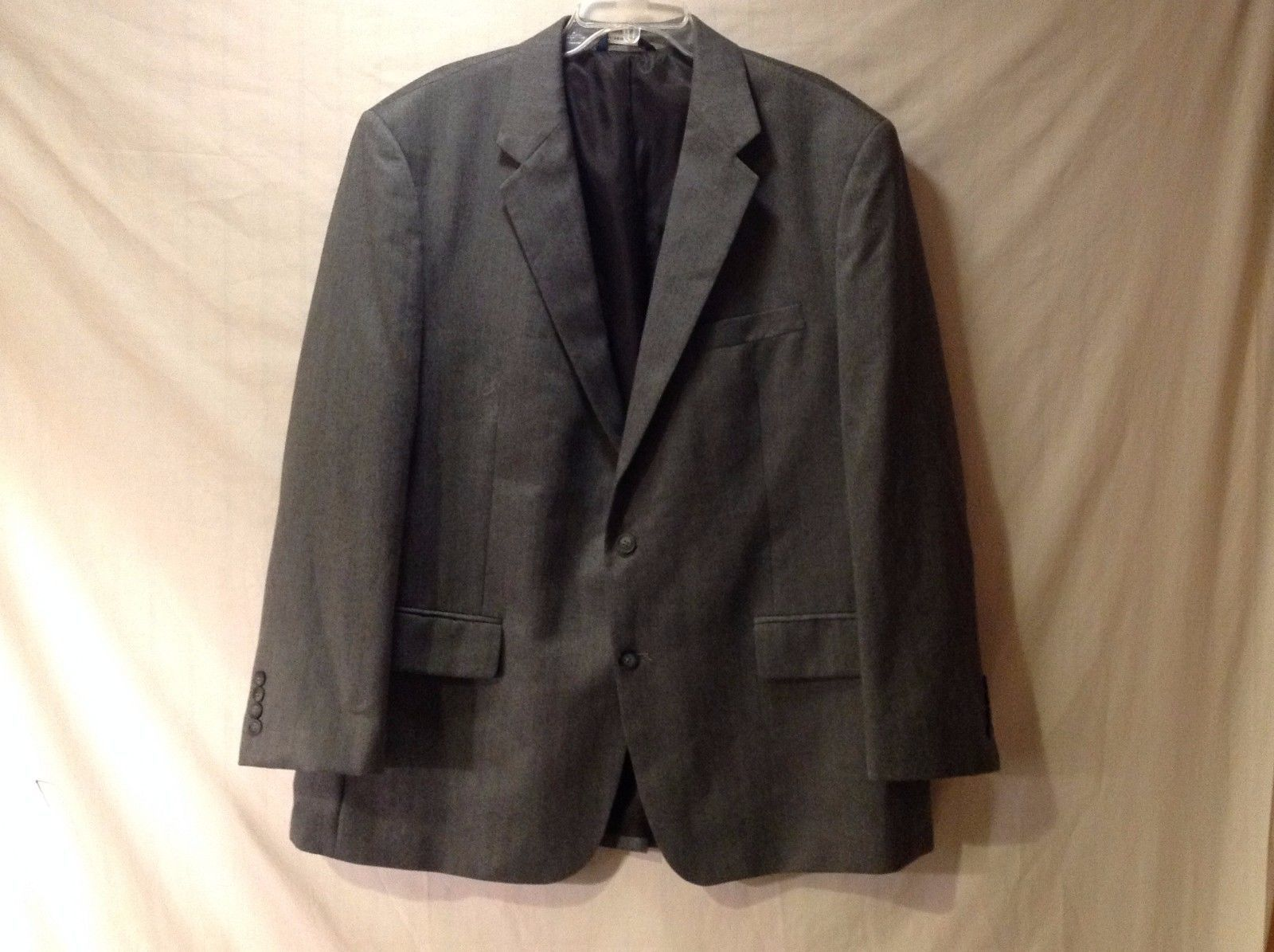 Men's Croft & Barrow Dress Jacket Sports Coat Gray Fully Lined Excellent Used