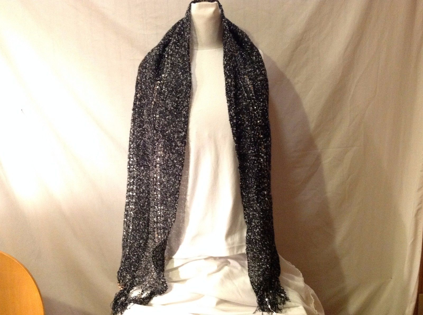 NWT New With Tags Black Wool Like Silver Copper Specks Sparkle Beautiful