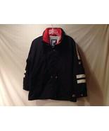 Unisex Fila Coat Jacket Parka Black Red White Pockets Stow Away Hood Fleece - $49.49