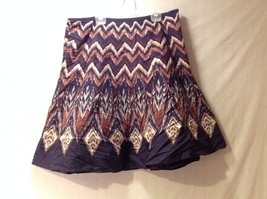 Women's Axcess Liz Claiborne A-line Above Knee Skirt Size 12 Plum Rust Cream