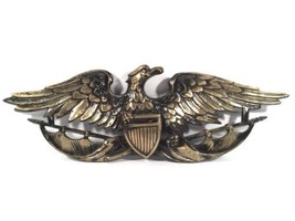 Eagle USA Shield Vintage MBC Nickel Wall Mountable Metal Plaque Made In ... - $34.64