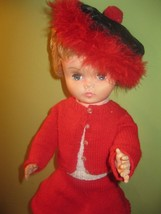 MID-CENTURY `LOLLIPOP`  HARD PLASTIC 18 IN DOLL ORIGINAL CLOTHES - $35.99