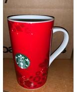 2013 Starbucks Christmas Mug 16 oz Travel Cup Tumbler Ceramic Black Drip  - $39.59