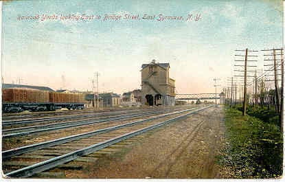 Railroad Yards East Syracuse New York Vintage 1913 Post Card