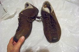 womens timberland smartwool brown leather lace up shoes size 7 - $36.62