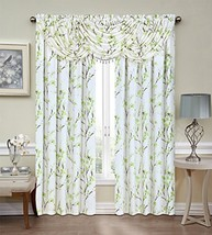 """Regal Home Collections Misaki Window Valance, 44"""" x 37"""", Green - $16.95"""