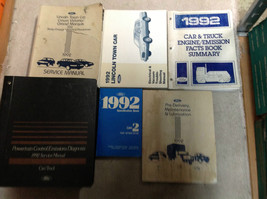 1992 LINCOLN TOWN CAR Service Shop Repair Manual Set 92 W PCED & EWD + M... - $197.99
