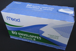Mead Security Envelopes 6 1/2 x 3 5/8 Inch, 80 ... - $5.93