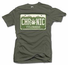 CHRONIC COLORADO LICENSE PLATE 2X Military Green Men's Tee (6.1oz) - $19.80