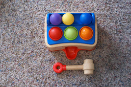 Vintage RARE Little Tikes Hammer Ball Toy Game Wood Wooden - $29.69