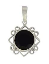 New Arrival 925 Sterling silver shining black spinel gemstone pendant SHPN0279 - $18.89