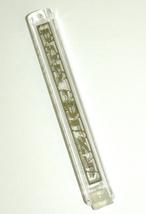 Mezuzah Case Plastic Decorated Front Metal Panel Shema Israel 12 cm Judaica image 3
