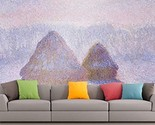 Roshni Arts - Curated Art Wall Mural - Monet - Haystacks (Effect of Snow and...
