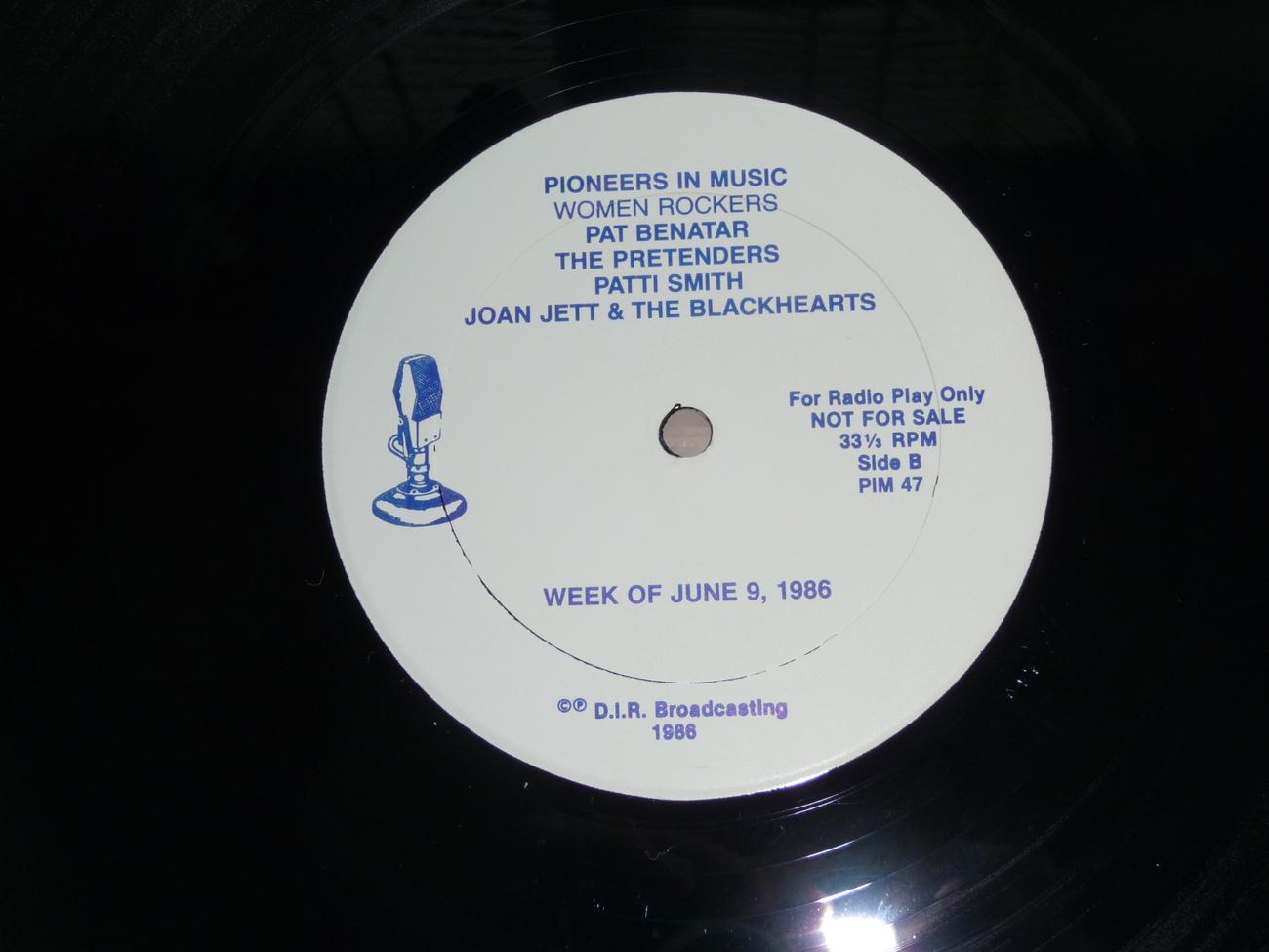 Patti Smith Pretenders Joan Jett Benatar Pioneers In Music Live Radio Show 2 Lp