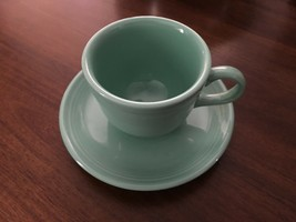 Fiesta Cup and Saucer in Meadow By Homer Laughlin - $8.90