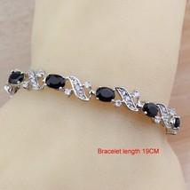 Punk style 4pcs dangle earrings bracelet ring 925 silver jewelry sets for women fashion thumb200