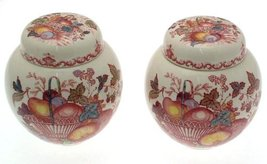 Pair of Masons Fruit Basket Ginger Jars in pink - 5.5 inches in height -... - €74,82 EUR