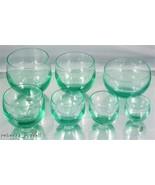 Vintage Moser Glass Barware 2.75 Inch Green Glass - $26.46