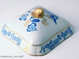 Spode Copeland Tureen Dish LID ONLY Bude Blue - $59.54