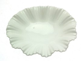 c1920 Coalport White Scalloped Fluted 5.75 Inch Leaf Dish - $34.40