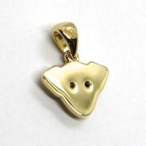 18K YELLOW GOLD MINI PENDANT, JACK RUSSELL DOG, BLACK ZIRCONIA MADE IN ITALY image 3