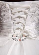 3D Floral Lace Corset Wedding Ball Gown Puffy Princess Wedding Dress image 5