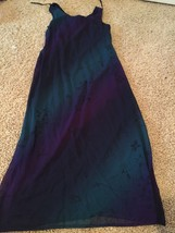 Jessica Howard Ombré Maxi Dress Blue Teal Purple Black 10 - €15,24 EUR