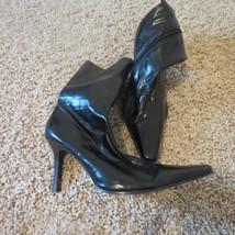 Skechers Soho Lab Square Pointy Toe Stiletto Boots 8 8.5 Black - £9.63 GBP
