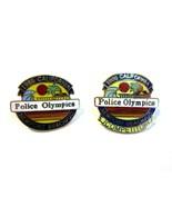 2 Vintage 1986 California Police Olympics Newport Beach UCI Goldtone Met... - $11.50