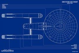 Vinteja charts of - BP UFP Constitution Class dorsal - A3 Poster Print - $22.99