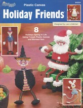 Holiday Friends, Plastic Canvas Pattern Booklet 843334, 8 Classic Charac... - $3.95