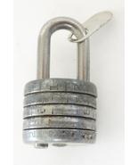 antique vintage steel keyless combination lock padlock USA - $29.00