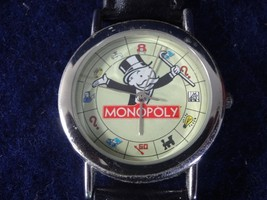 Vintage NOS 2001 Hasbro Monopoly Board Game Wrist Watch - New Battery - $32.66