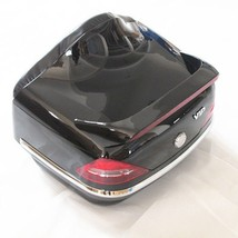 Black Motorcycle Trunk Luggage Case Tail Box Rack Backrest For Harley Touring - $72.00