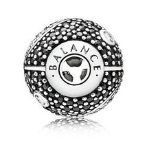 925 Sterling Silver Essence BALANCE Charm Bead For Essence Bracelet - $20.99