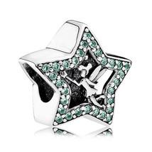 925 Sterling Silver Disney Tinker Bell Star Charm Bead QJCB892 - $21.66