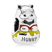 925 Sterling Silver Disney Honey Pot Pooh Charm Bead QJCB893 - €16,83 EUR