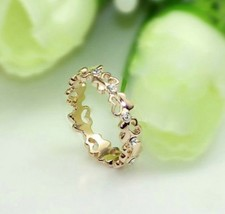 18K RGP Butterfly Cutout Band Alloy Ring( Size:Gold-16 ) - $7.99