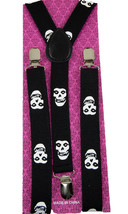 "Unisex Clip-on Braces Elastic ""Skull"" Suspender Y-Back Suspender #7 - $6.92"