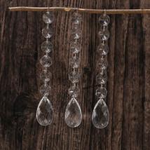 12 Acrylic Crystal Octagon Bead Hanging Strand Manzanita Tree Wedding Decoration - $6.48