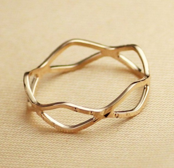 Primary image for Gold Plating Cutout Alloy Ring(Size: Gold-16 )