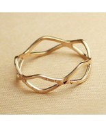 Gold Plating Cutout Alloy Ring(Size: Gold-16 ) - $7.99