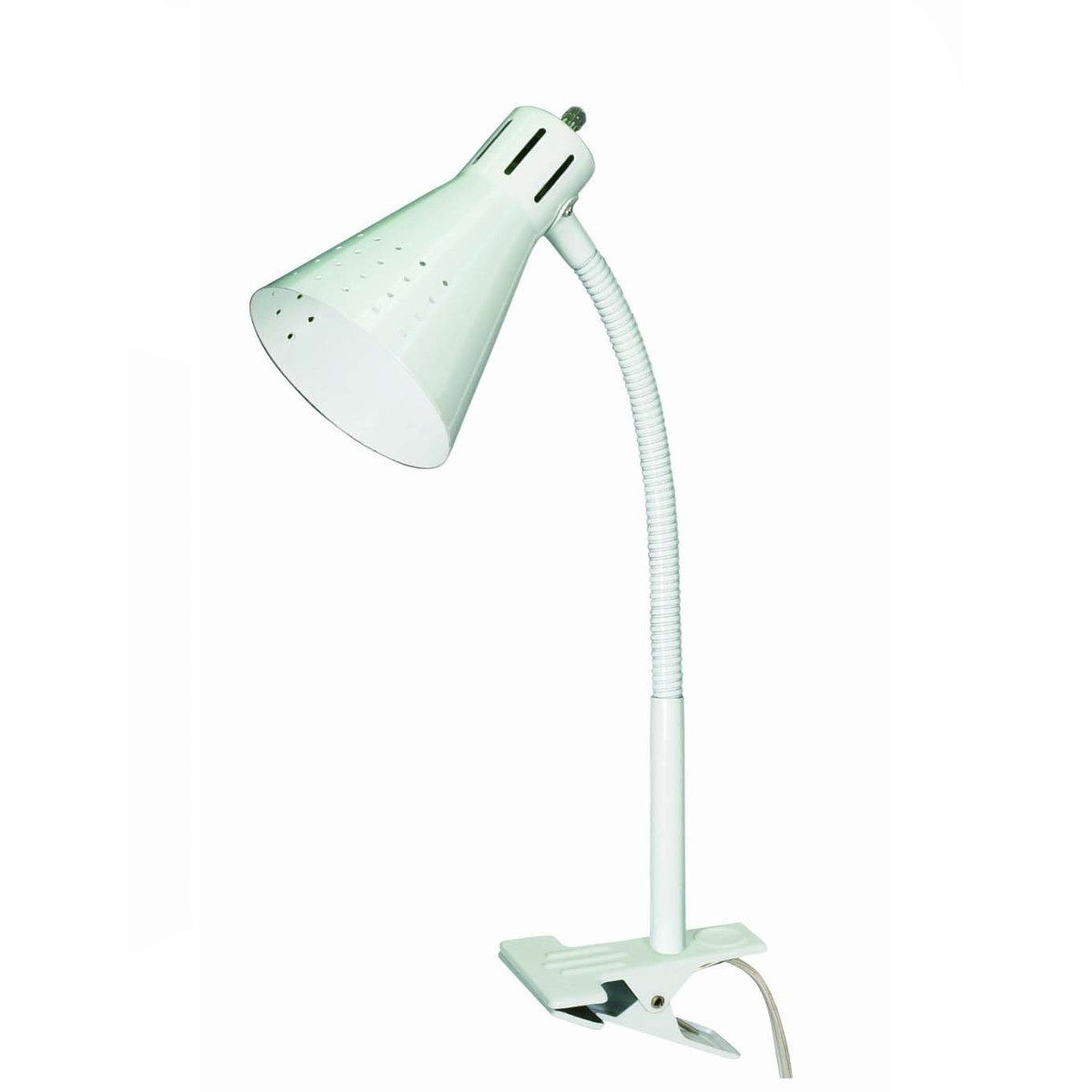 Clip-on Gooseneck Desk Lamp White 60/832
