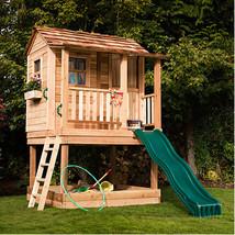Children Playhouse Tree Cedar Kid Outdoor Garden Backyard Fort Cottage L... - $3,299.99