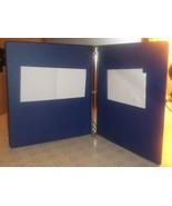 "Royal blue 1/2"" professional STURDY hard-cover 3-ring binder w/inside po... - $4.94"