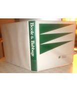 "White-green B&B 1"" professional STURDY hard-cover 3-ring binder w/inside... - $0.98"