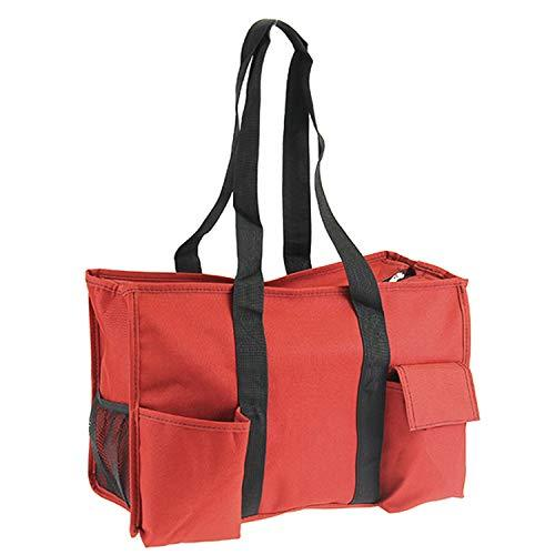 Multi Pocket Solid Red Utility Bag Tote Scarlett's Bags Brand