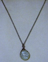 Estate~ Vintage Glass Globe Pendant Necklace w/chain - $26.66