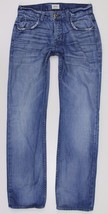 Hudson Wilde Relaxed Straight Blue Jeans MENS 30 x 34 Button Fly Distres... - $29.99