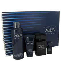 Perry Ellis Aqua Extreme Gift Set - 3.4 Oz Eau De Toilette Spray + .25 Oz Min... - $56.75